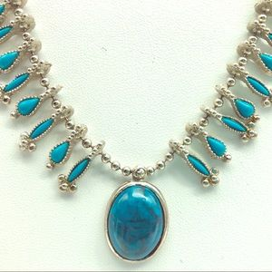 🦋💙Vintage costume squash blossom necklace💙🦋